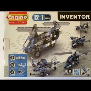 Engino Inventor 12 in 1 Aircraft NIB